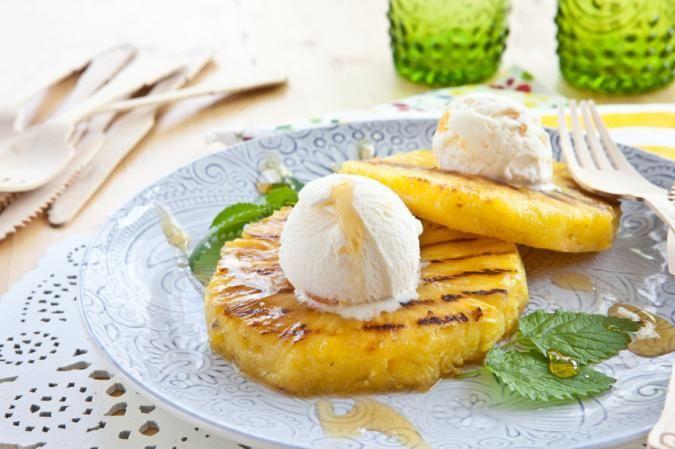 Grillezett ananász vanília fagyival - PROAKTIVdirekt Életmód magazin és hírek…