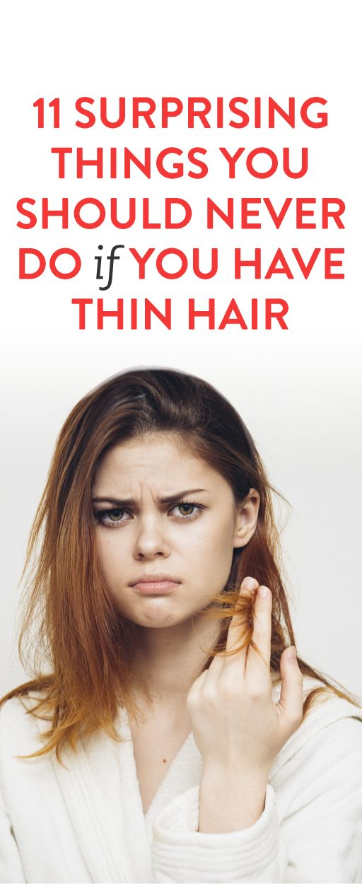 Surprising Things You Should Avoid If You Have Thin Or Fine Hair