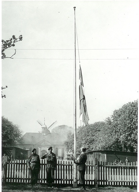 The Danish flag at Kastellet (May 1945)
