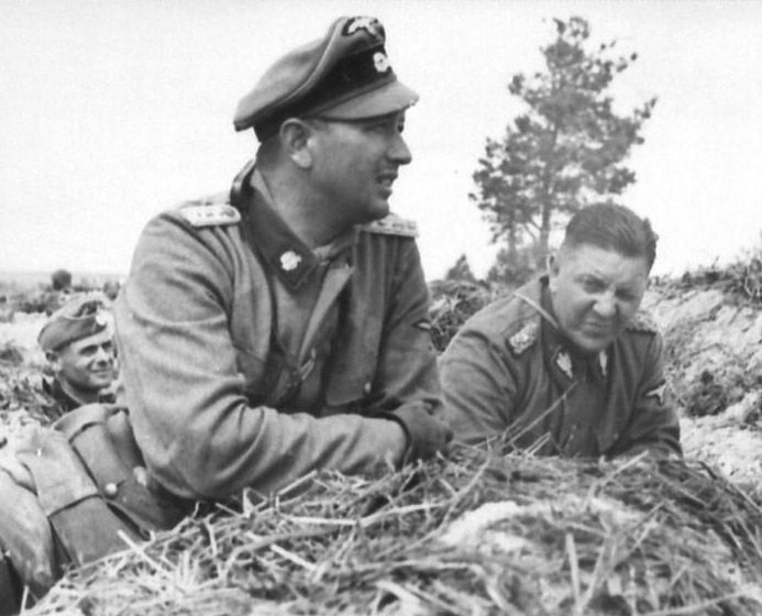 SS Totenkopf The Man on the right is Theodor Eicke the