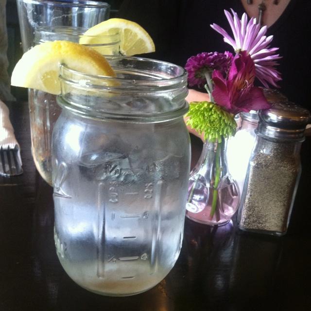 mason jar water glasses at evo restaurant in charleston sc - Mason Jar Drinking Glasses