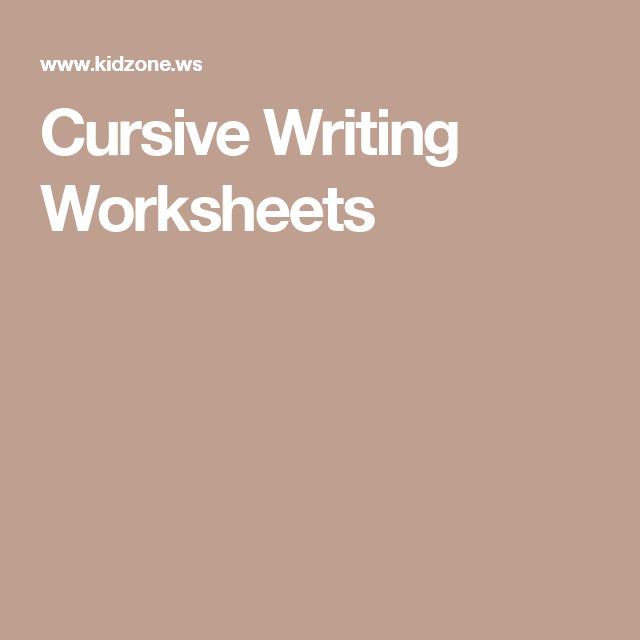 17 best ideas about Cursive Writing Worksheets on Pinterest ...