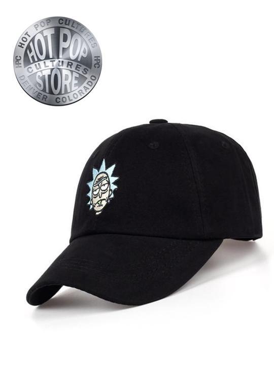 4b631074b1fce Rick and Morty Crazy Rick Dad Hat Black Baseball Cap Cotton Embroidery  Adjustable Strapback Hot Pop Item!