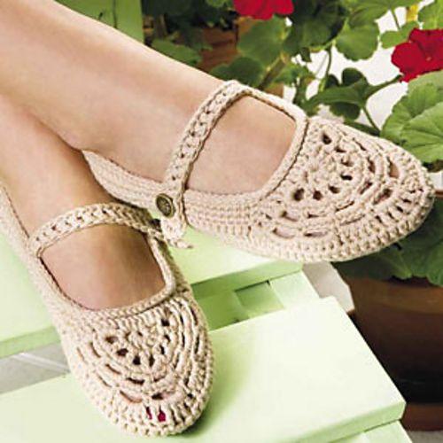 Zapatos ganchillo