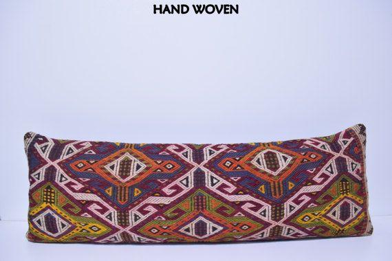 16x48 euro pillow cover kilim pillow king size bedding big