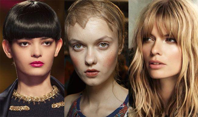 Per la stagione primavera estate 2015 l'hairstyle sancisce il grande ritorno degli hairlook con frangia da scegliere tra diverse varianti glamour a partire dalla proposizione lunga fino a coprire l...