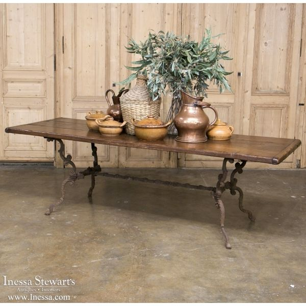 Country French Antique Furniture | Country French Dining Table with Cast  Iron Base | www. - 30 Best ANTIQUE HOME DECOR Images On Pinterest Antique Furniture