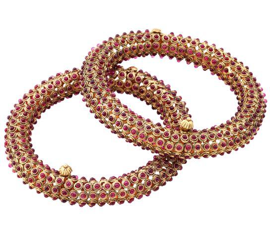 ruby bangle by Hazoorilal