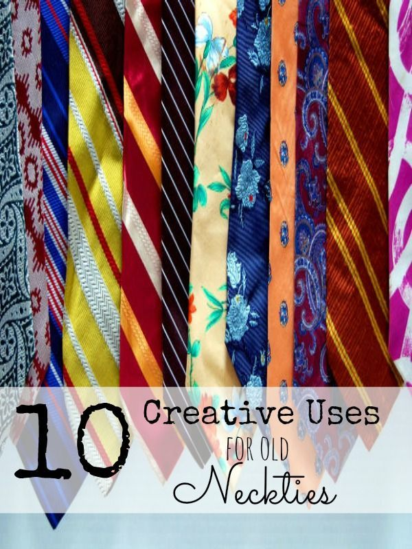 Don't throw way old ties, here are some fun ideas for how to use neckties.