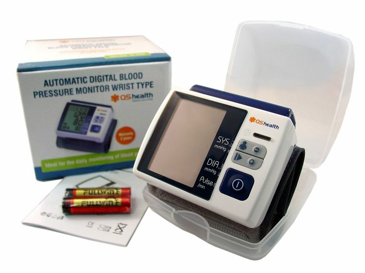 New LCD Screen Digital Memory Wrist Blood Pressure Monitor & Heart Beat Meter