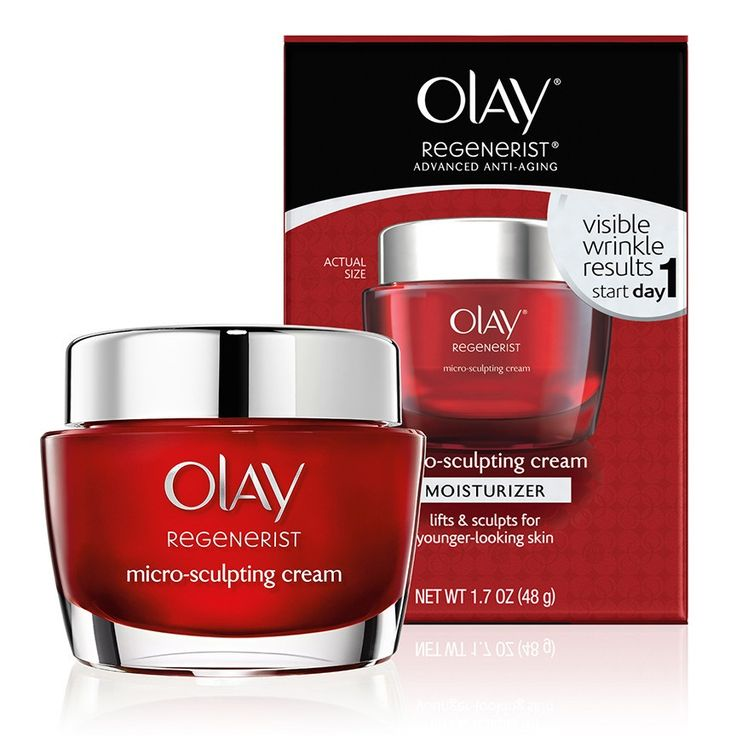Olay Regenerist Micro-Sculpting Cream is an anti-aging moisturizer that hydrates skin