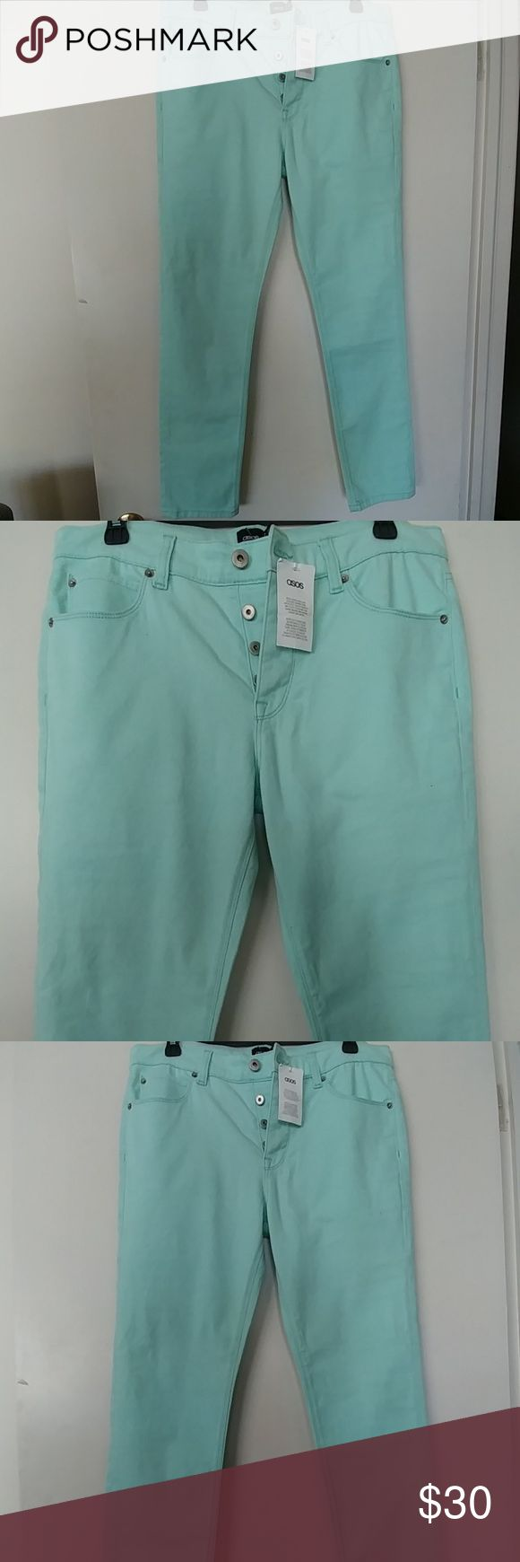 🍧HP🍒NWT 🆕 ASOS MINT GREEN SKINNY JEANS SIZE 32 💗💕💞💕HOST PICK💚💛💜👔👝👙HOST PICK👛👘🎽👠🙎🙇👖👚👓👝🌂👝👔👓💼💑🐼🐥🐘🐺🐰🐨🐘🐤🐤HOST PICK🐑🐷🐯🐧🐑🐮🌒🌎🌜🌎🍂🍄🌸🐩🌸🍀🍃🌿HOST PICK💐🌱💐HOST PICK🐩🌿HOST PICK🌱🌻🍀🌻🌷🌳🐄🐎🐅🐂🐅🐁🐟🐄🐕🐳🐳🐟🐄🐅🎃🎉🎊🎈HOST PICK🎁🎋🎇🎆🎆💝🎓HOST PICK🎒🎉🎉🎋🍯🍏🍍🍊🍍🍋🍧🍩🍬🍌🍏🍋🎂🍏🍇🍈🍐🍊🍭🍇  🆕  NWT ASOS MINT GREEN SKINNY JEANS.  SIZE 32.  BUTTON FLY CLOSURE. ASOS Pants Skinny
