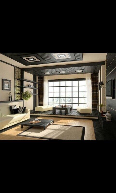 Modernes Schlafzimmer Wohnzimmer Sitzkissen Innendesign Schwarz Moderne Wohnrume Japanisch