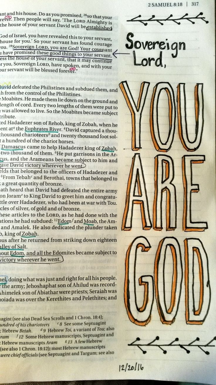 Bible Journaling 2 Samuel 7:28 David's Prayer