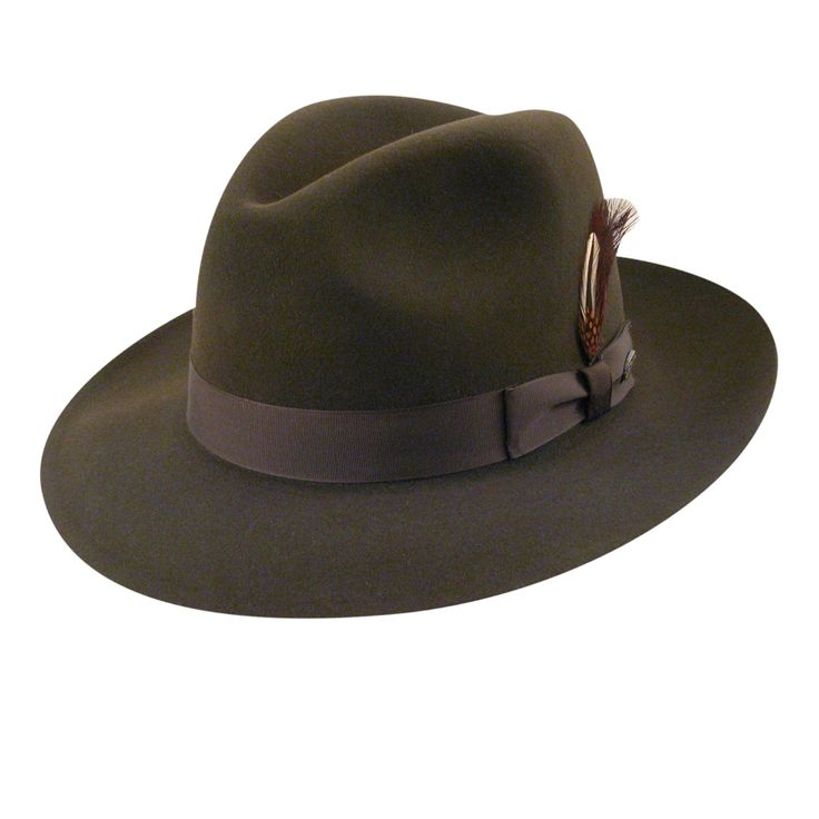 Mens Fedora Hats in the 1920s had a tall crown like this one. $175