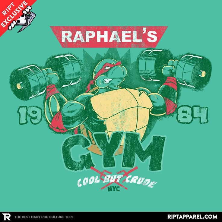 Raphs gym teenage mutant ninja turtles t shirt