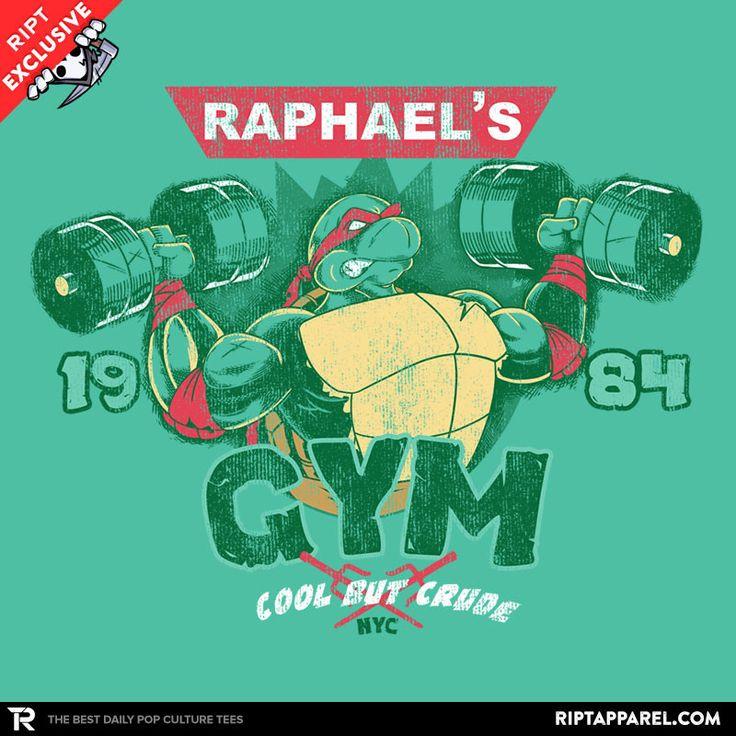 Raphs gym teenage mutant ninja turtles t shirt