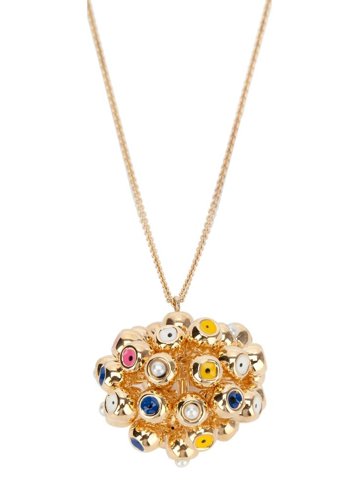 Delfina Delettrez 'Dna' Ball Chain - Gold plated necklace featuring a trigger hook fastening to the back, a double chain detail and a clustered hanging pendant - Dolci Trame