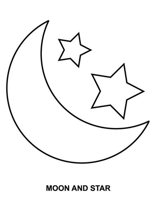 moon and star coloring pages for kids