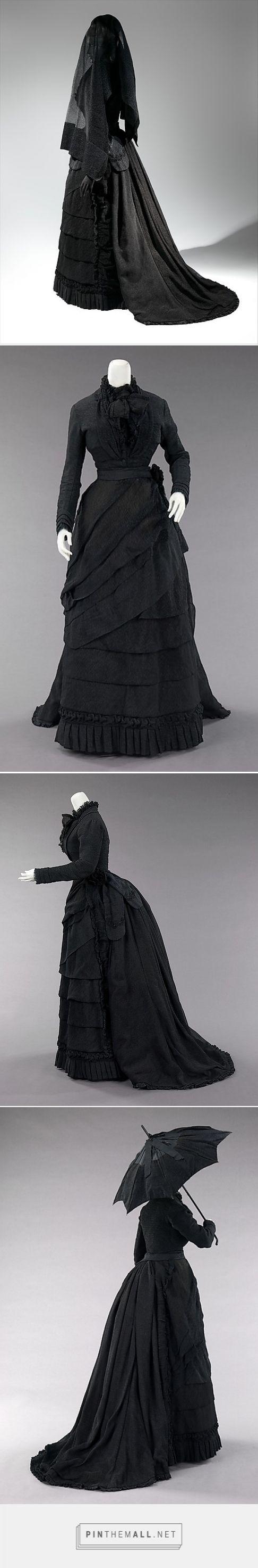 Mourning ensemble 1870-72 American   The Metropolitan Museum of Art