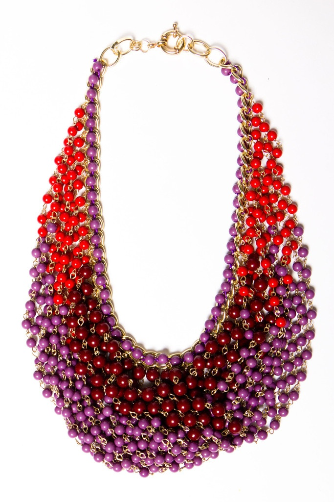 fall draped statement necklace.