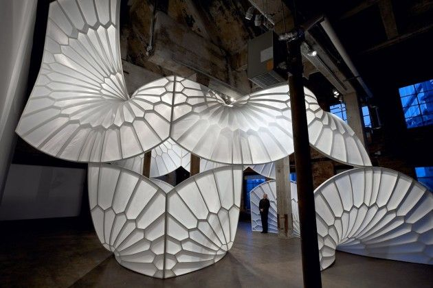 Artist David Henderson has created a sculptural installation named 'A History of Aviation'.