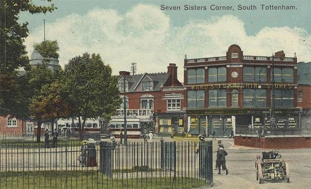 Ward's Corner in Tottenham. The Edwardian building now hosts a number of small markets, and is subject to a preservation campaign in opposition to Haringey council's attempts to build a housing development in its place.