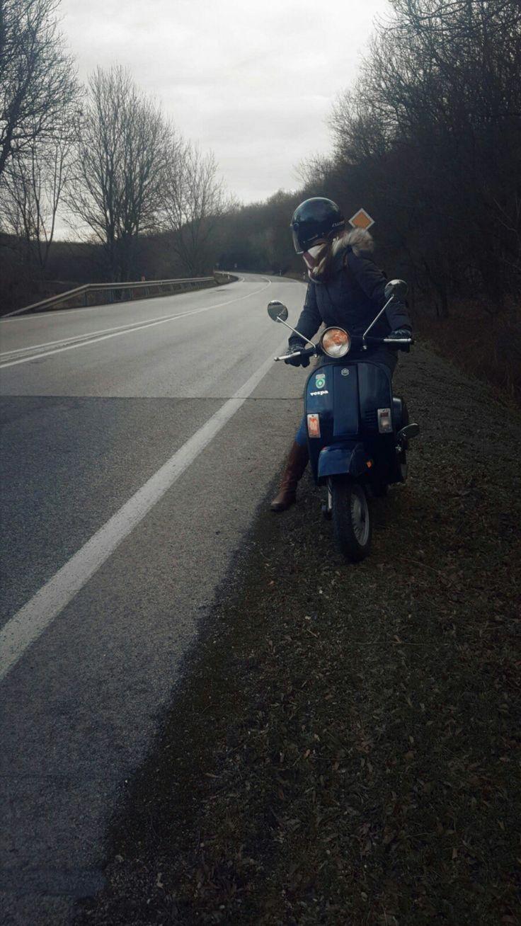 Last tour with my Vespa pk 50 XL Piaggio scooter
