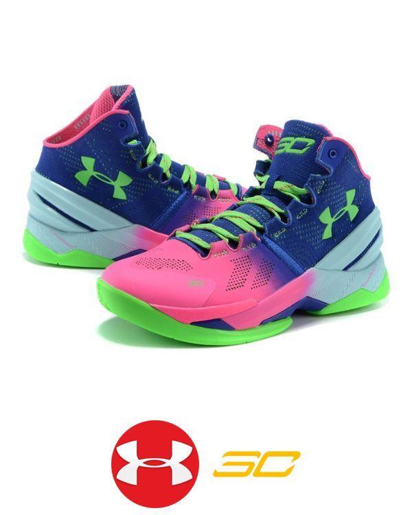 Men's UA Stephen Curry 2 Pink/Royal Blue Shoes