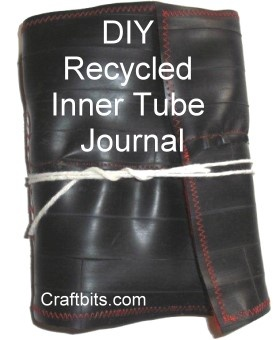 DIY Recycled Inner Tube Journal - Love this Piece!