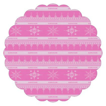 Pink Breast Cancer Survivor  Paper Coaster - paper gifts presents gift idea customize