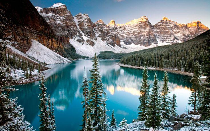 National Park Banff, Canada | Moraine Lake, Winter, Banff National Park, Alberta, Canada | America's ...