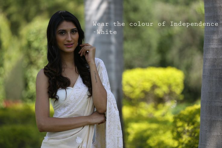Wear the colours of flag this Independence Day #Fashion #Saree