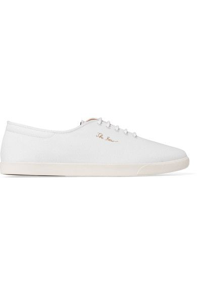The Row - Dean Embroidered Canvas Sneakers - White - IT40.5
