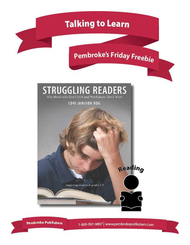 Structured talk and dialogue can enhance both reading comprehension and learning in general. These tips and prompts, from Lori Rog's Struggling Readers, will help you engage your students in thoughtful and productive discussion that will support and scaffold learning.