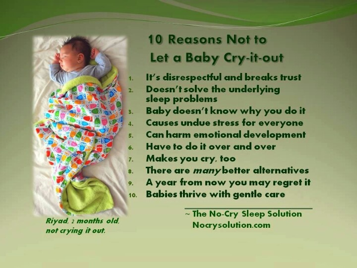 10 reasons to not cry it out | Oh Baby