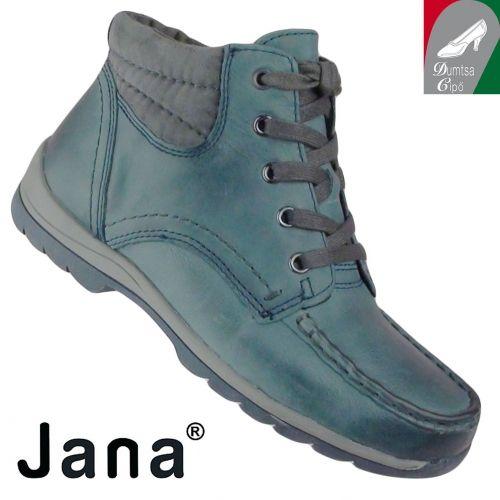 Jana női bőr bokacipő 8-25203-25 805 kék