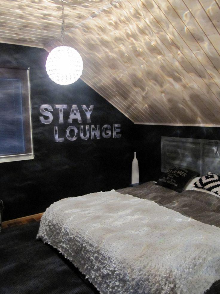 Renewed bedroom - gray colors - round  crystal lamp