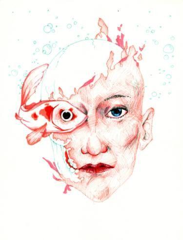 """Saatchi Art Artist TRIANTAFYLIA VASSOU; Drawing, """"Bubbles"""" #art"""