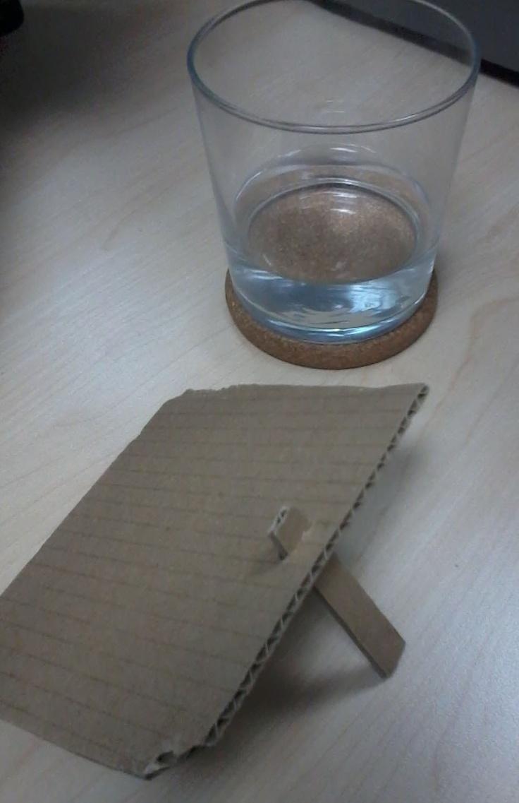 Tapa con soporte para el vaso