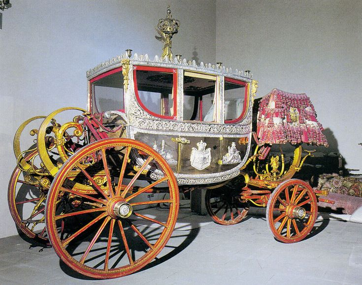 Silver carriage, Carriage Museum, Museo delle Carrozze, Italy