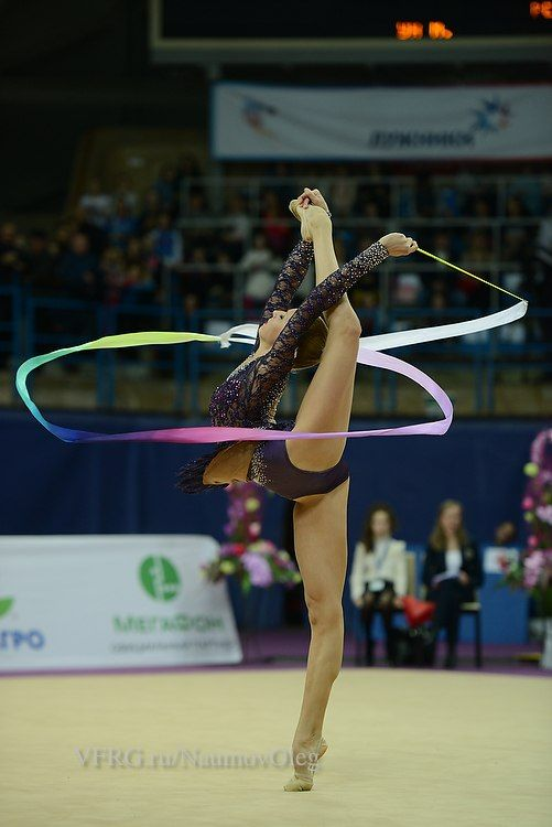 Yana Kudryavtseva, Russia, was the 2nd in ribbon at Grand Prix Moscow 2015