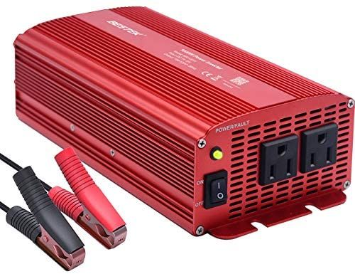 Amazon Com Bestek Power Inverter 1000 Watt Dc 12 Volt Power Converter 1000w Dc To Ac Converter For Car Automotive In 2020 Power Inverters Power Converters Converter