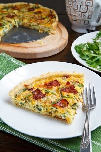 WILD LEEK AND DOUBLE SMOKED BACON TART | Our Favorite Recipes | Pinte ...