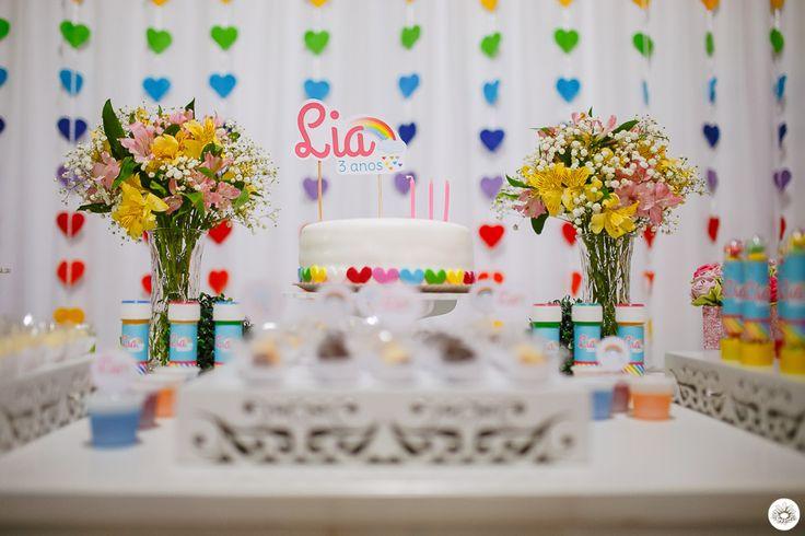 Flor de Cerejeira - Festas Personalizadas: Festa Arco Íris da Lia