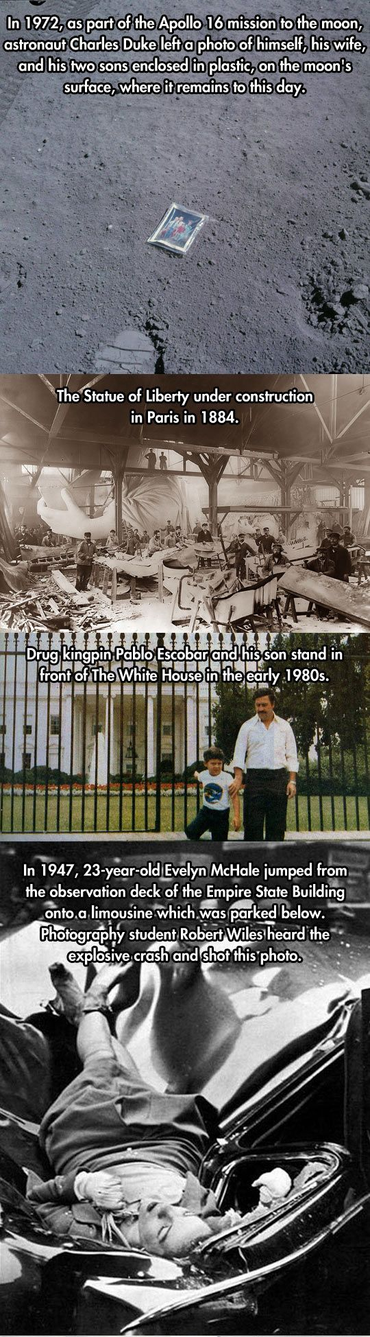 20 Rare Historical Photos...altho the 1st cant be true. It would have faded white eons ago.
