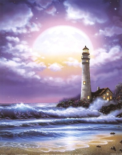 Lighthouse Storm Painting - Bing Images | Lighthouses ...