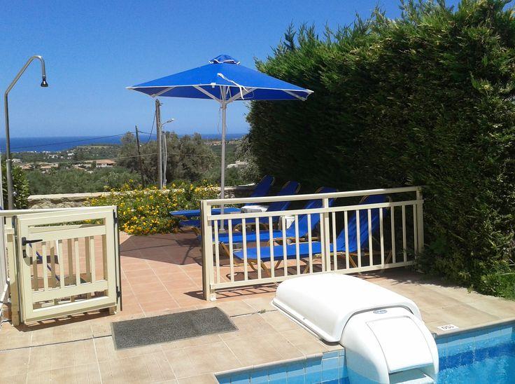 Villa Ismini, private pool, sea view. www.helidoniavillas-crete.gr