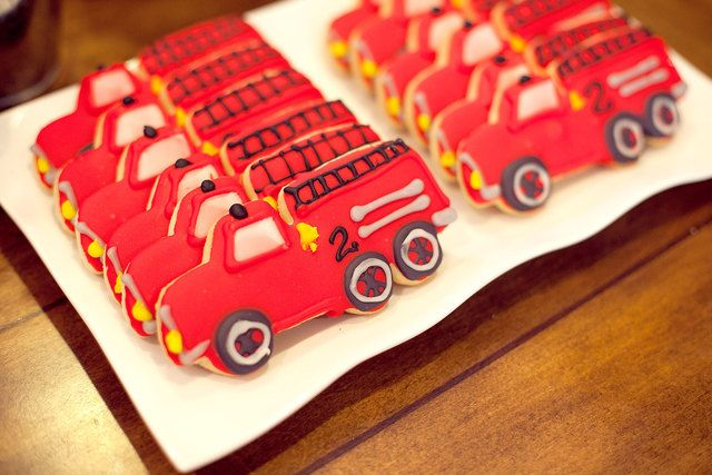 Cookies at a Firetruck Party #firetruck #partycookies