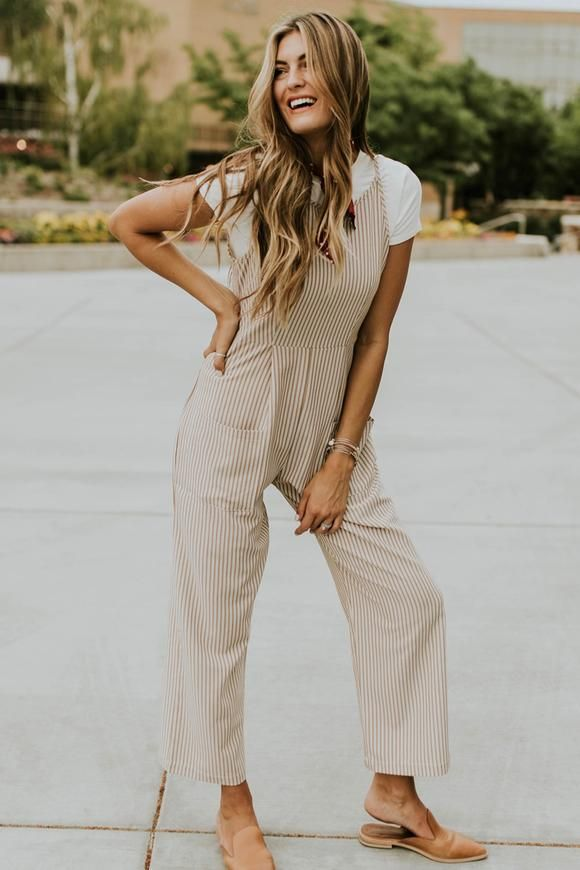 020d2aeacd9 Stripe Jumpsuit Outfit